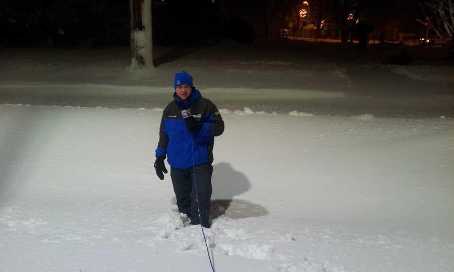 WeatherWatch 12 meteorologist Luke Sampe in Beaver Dam.