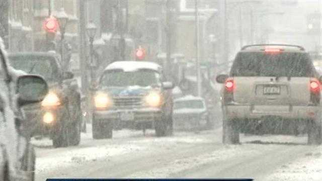 Slushy roads in Waukesha county