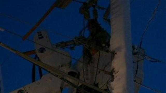 Thursdays snow storm knocked out power to areas around southeastern Wisconsin.