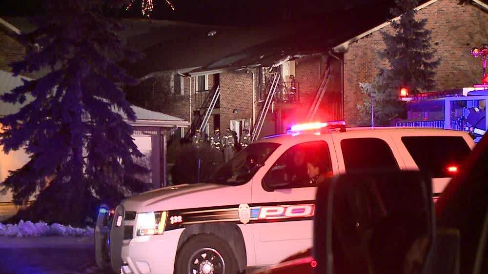 Apartment fire in Racine County