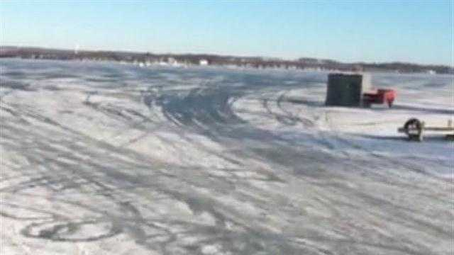 Pewaukee's fire chief warns people to be careful on ice because of warming temperatures.