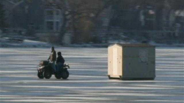 The Pewaukee fire chief warns people to use common sense before going out on the ice.