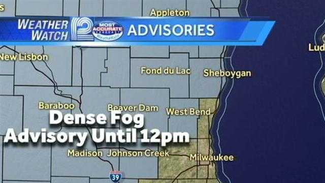 Weather Watch 12 meteorologist Sally Severson tracks rain and dense fog to start your Friday.