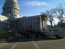 A man suspected of making a threat against the Capitol on Facebook is arrested Tuesday as the entered the building.