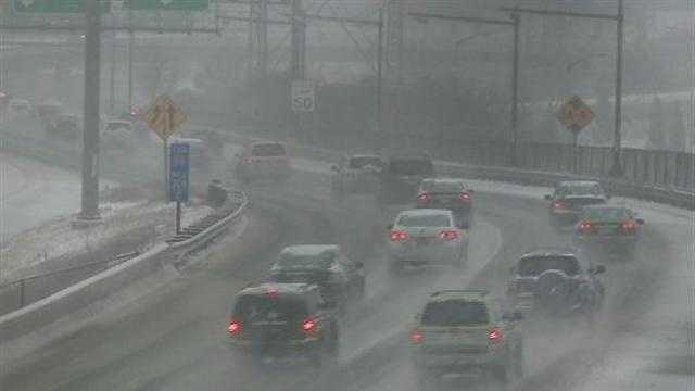 Wintry mix causes crashes