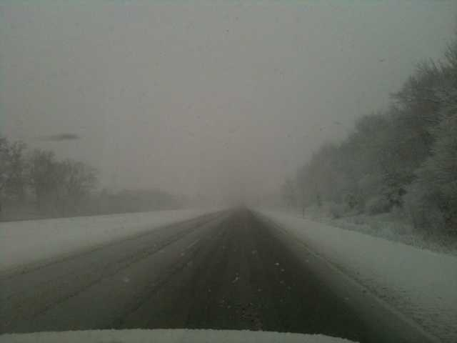 Driving on I-94 in Jefferson County