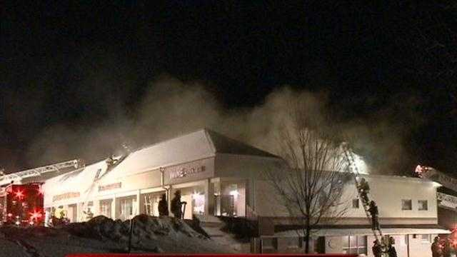 Cedarburg firefighters spent the night fighting a three-alarm fire inside a restaurant.