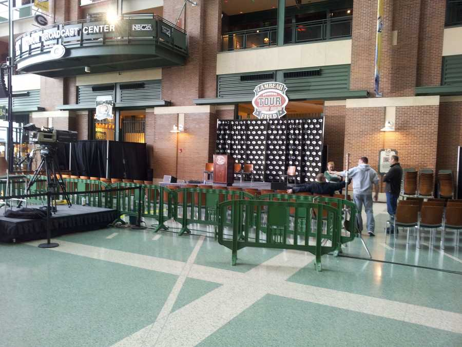 It will be held in the Lambeau Field Atrium.