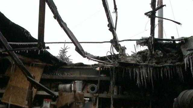 Fire ravages business