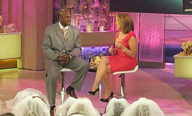 Donald Driver and Katie Couric
