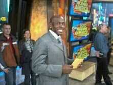 "WISN 12 News' Shelby Croft was on set as Donald Driver appeared on ""Good Morning America"" Monday morning."