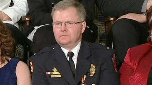 Oak Creek police officer honored in the State of the Union address.