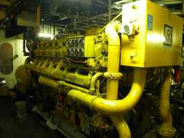 Generator used for extra power when loading and unloading cargo.