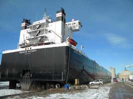 WISN was granted rare access to several of the huge ships currently docked in Milwaukee.