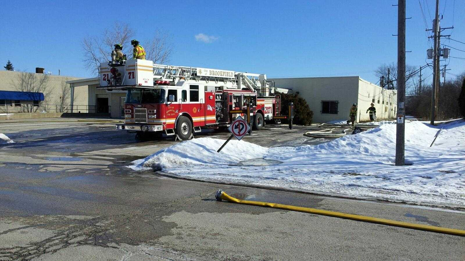 Fire at Brookfield business