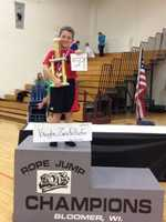 Bloomer, Wis. -  Jump Rope Capital of the WorldIt began in 1960 when the Phy Ed teacher began to see how fast students could jump rope. The city holds a contest every January.