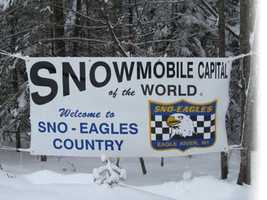 Eagle River, Wis. - Snowmobile Capital of the WorldThe area claims 500 miles of the best-groomed winter trails anywhere.