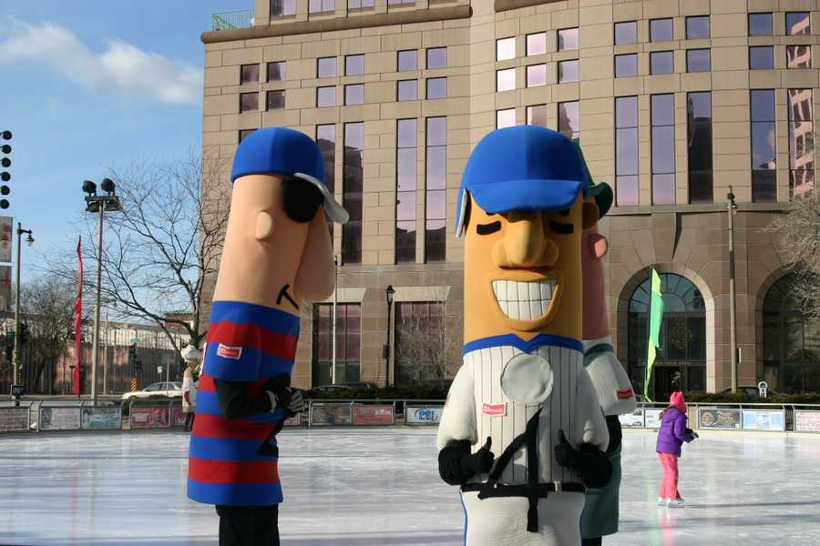 The Klement's Racing Sausages were at Red Arrow Park in downtown Milwaukee today.