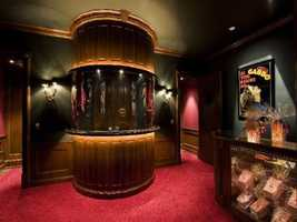 Entrance to the home theater.