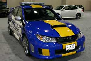 The latest edition is a Subaru Impreza WRX STI.