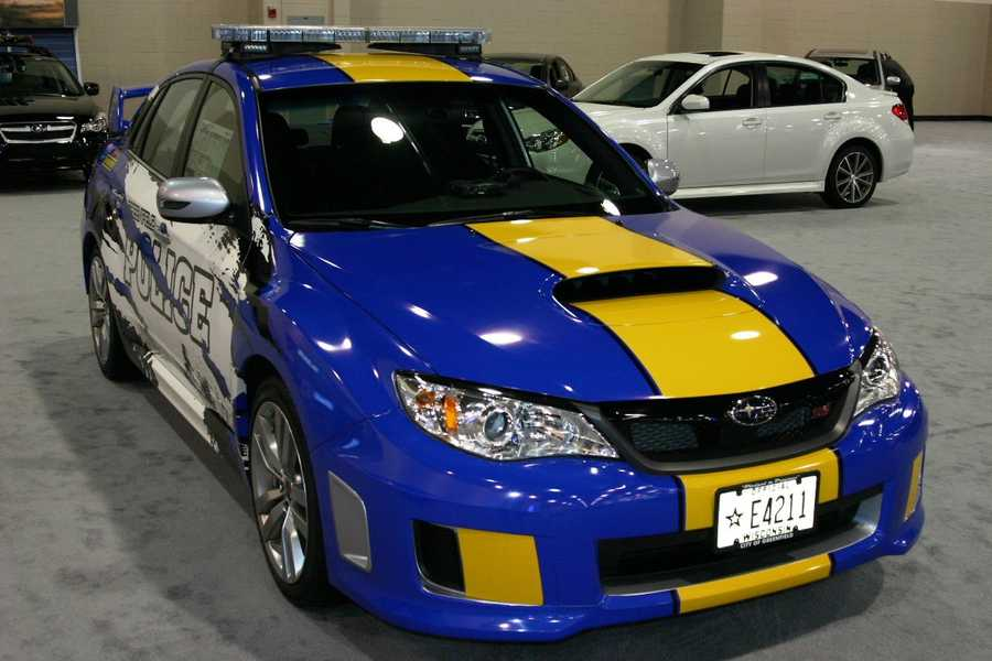 The latest edition is a Subaru Impreza WRX STI.