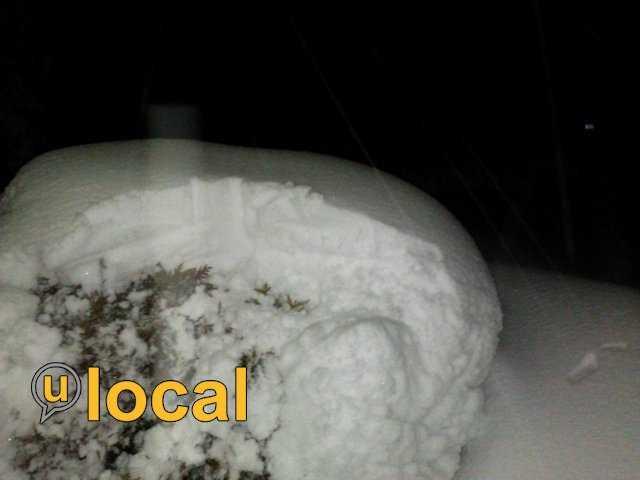 Cedar Grove - 15.5 inchesSheboygan - 14.5 inches