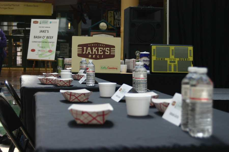 A corned beef eating contest was part of the Westown Association's kick-off to the weekend's St. Patrick's festivities.