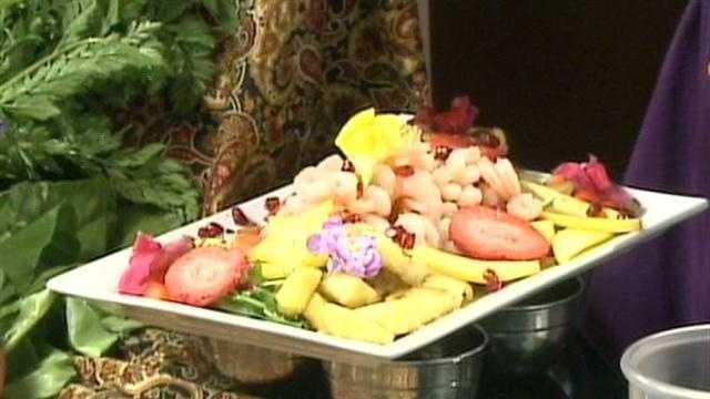 Making Meals Tropical Fruit and Shrimp Salad