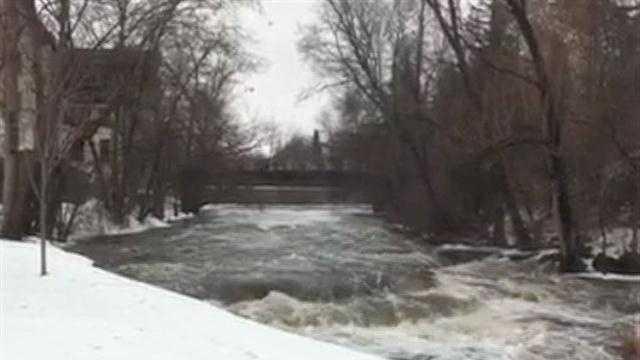 Cedar Creek runs high