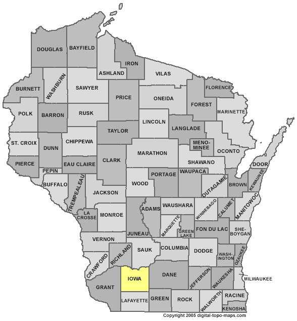 Iowa County: 9.3 percent Irish