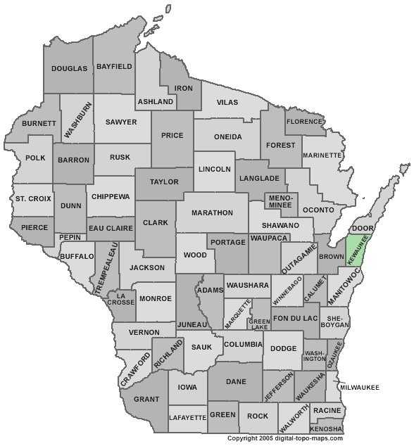 Kewaunee County: 3.0 percent
