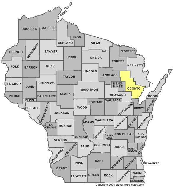 Oconto County: 4.4 percent of primarily Irish heritage