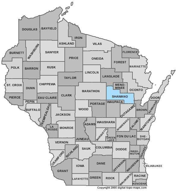 Shawano County: 3.6 percent