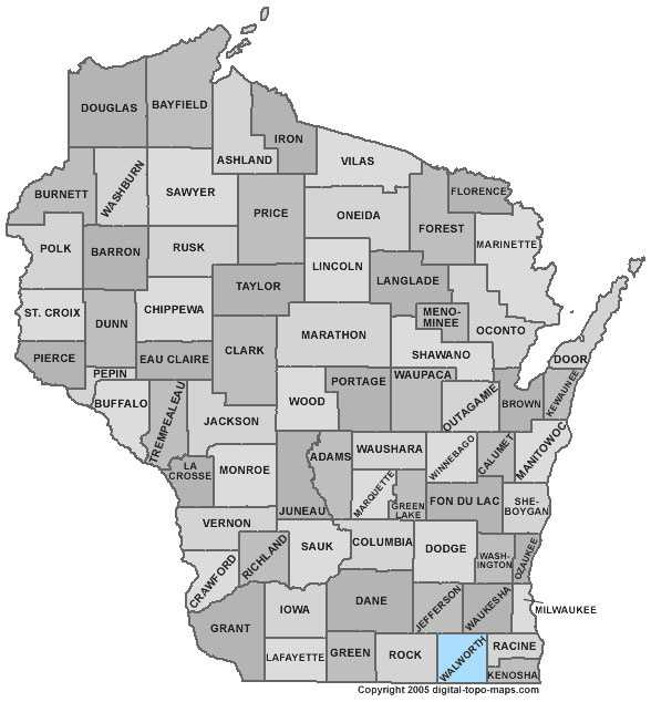 Walworth County: 7.6 percent