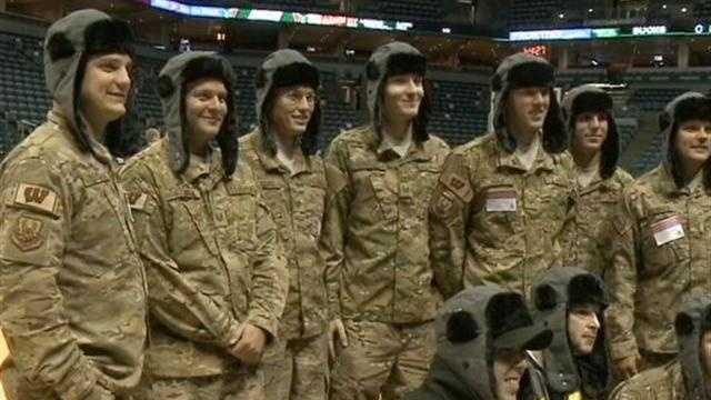 Veterans at Bucks game