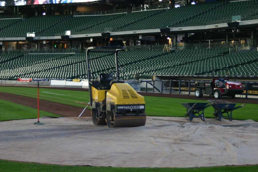 Groundskeepers have been very busy making sure the field will be ready.