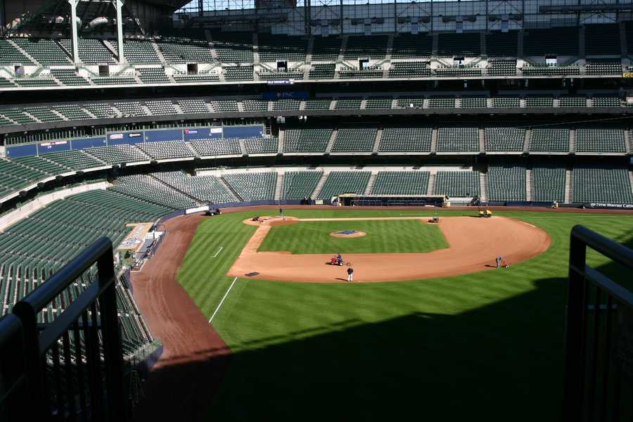 View of the field from the Dew Deck