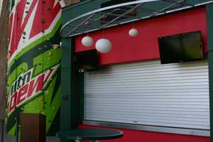 A special concession stand serves just the patrons on the Dew Deck.