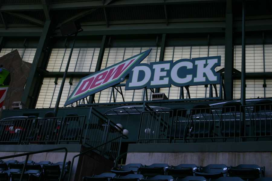 A renovated Dew Deck is one of the changes for 2013.