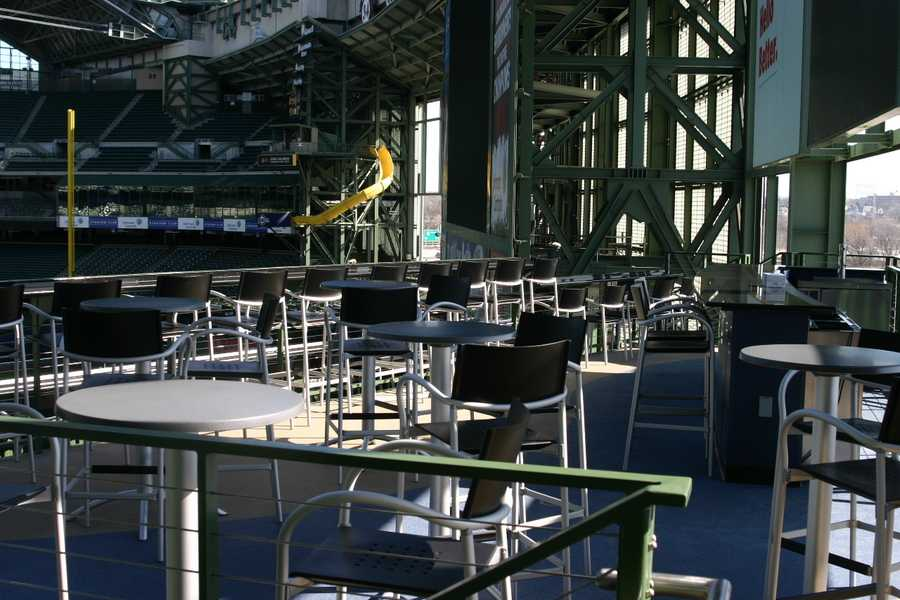 This area is located in Right Field above the Loge Bleachers.