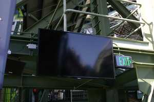 There are a number of flat panel televisions in this area.