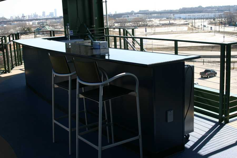 A bar dedicated to those in the Miller Lite Party Deck.