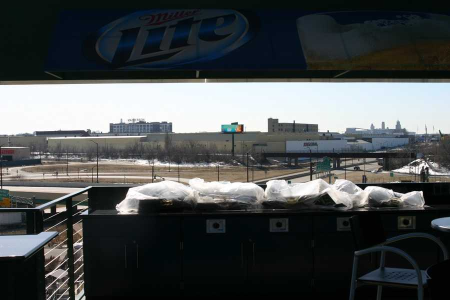 On nice days the back panels will be open with a view of Miller Park Way.