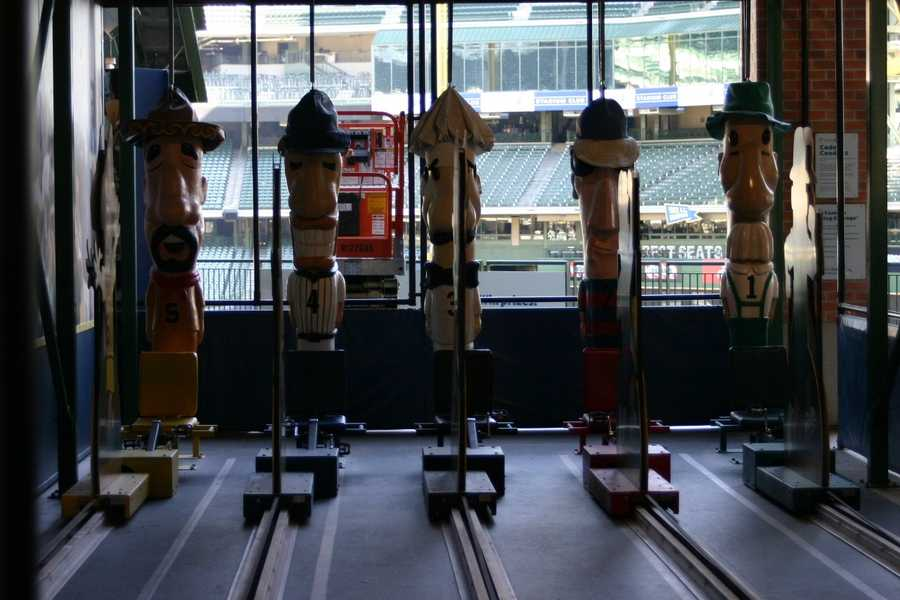 Some of the old favorite attractions are still there, such as the Racing Sausages.