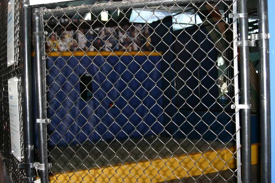 There is a batting cage.