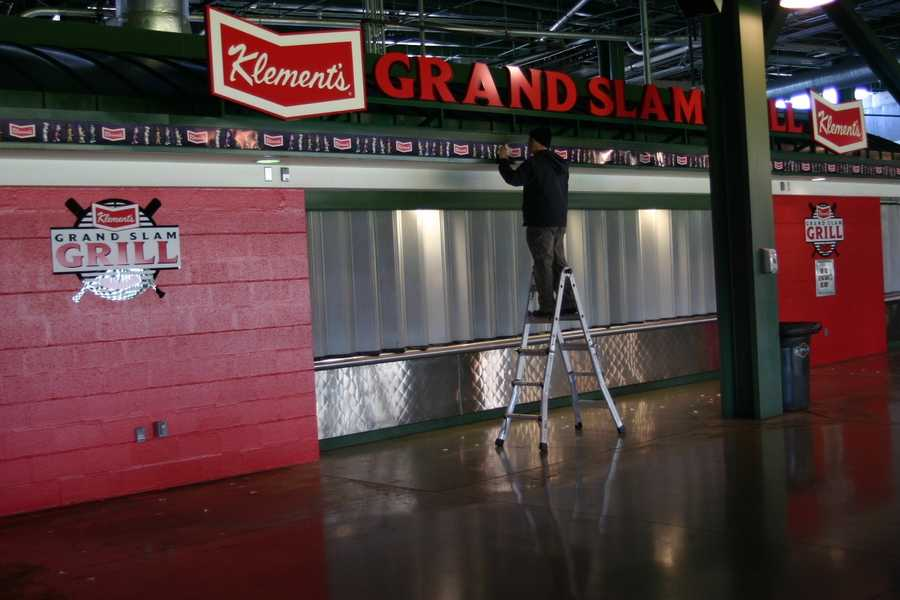 This concession stand will feature more Klement's products than any other stand in the stadium (menu still being worked out).