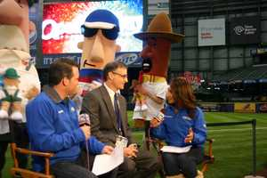 WISN 12 News' Craig McKee and Marianne Lyles talk to Brewers COO Rick Schlesinger