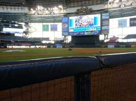 View from the Brewers dugout.