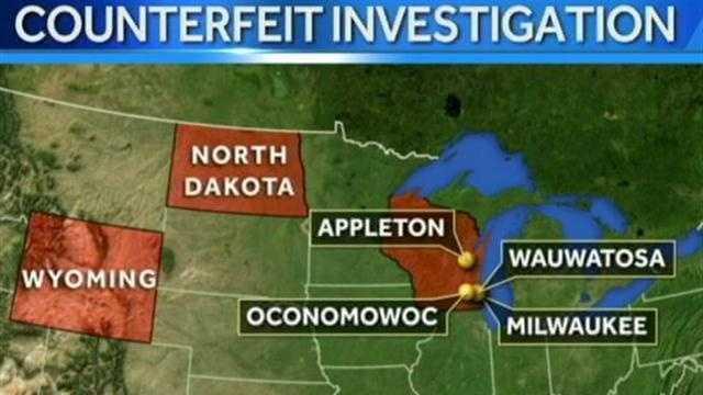 Counterfeit investigation map