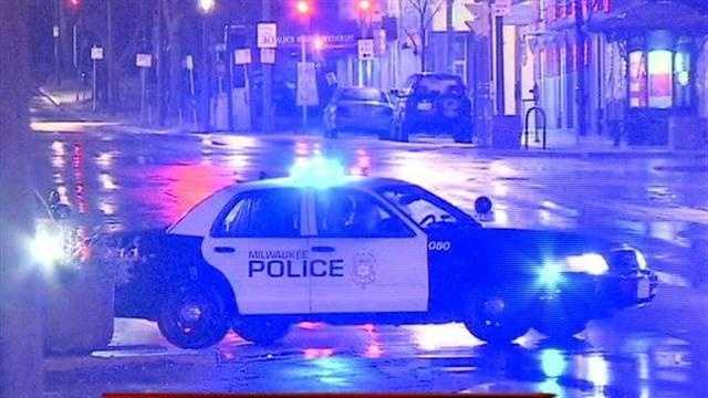 Milwaukee police say a car hit a pedestrian on the city's east side.